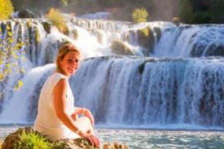 Vízesések a Krka Nemzeti Parkban (Horvátország)