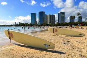 Nyaralás Hawaiion — Oahu-Sziget, Tengerparti Luxusszálloda Waikiki Beach