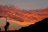 erkélyünkről a naplemente