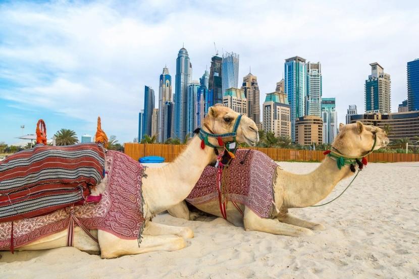 Dubai teve felhőkarcolók Emírségek