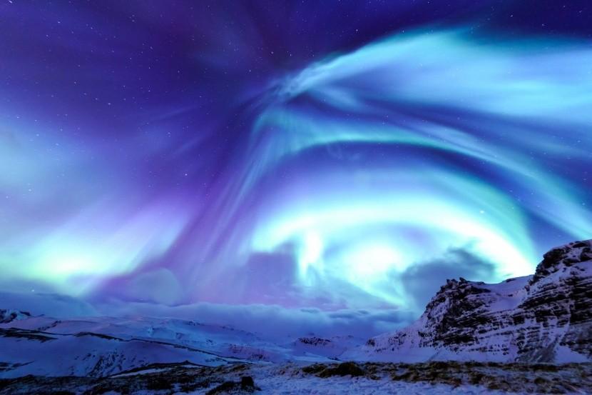Kirkjufell és a sarki fény, Izland