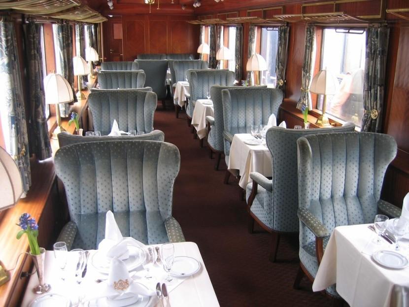 Orient Expressz vonat étterem teríték