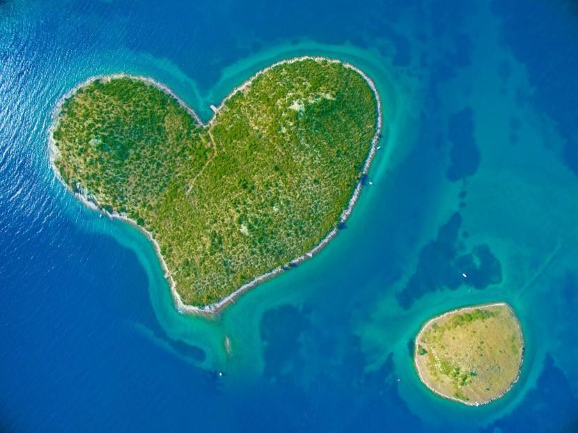 Horvátország szív alakú szigete