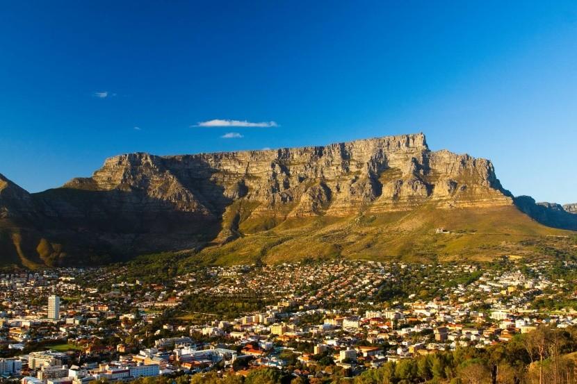 A Tábla-hegy Fokváros felett