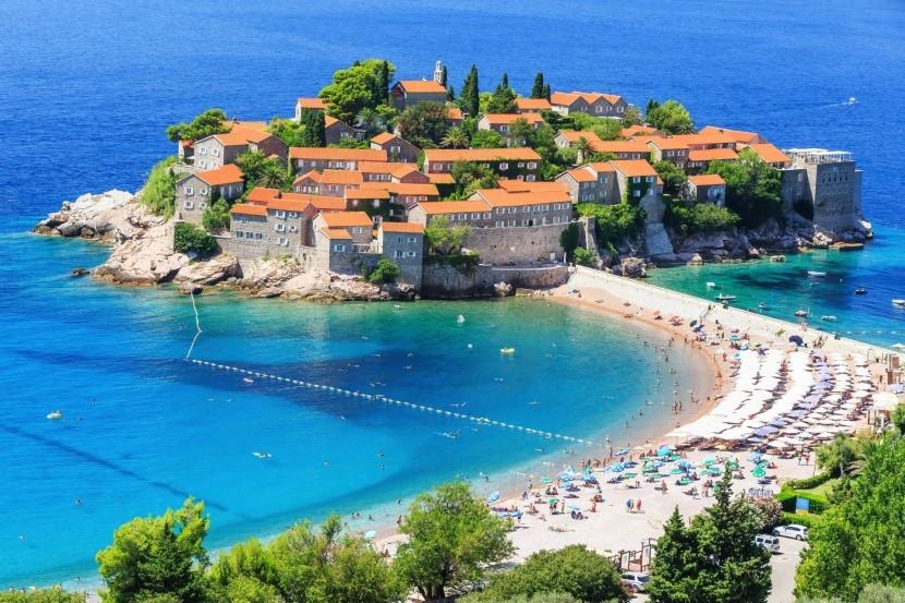 Sveti Stefan sziklás félsziget Montenegró
