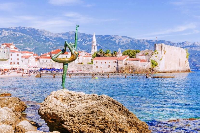 Budva Montenegró tengerpart