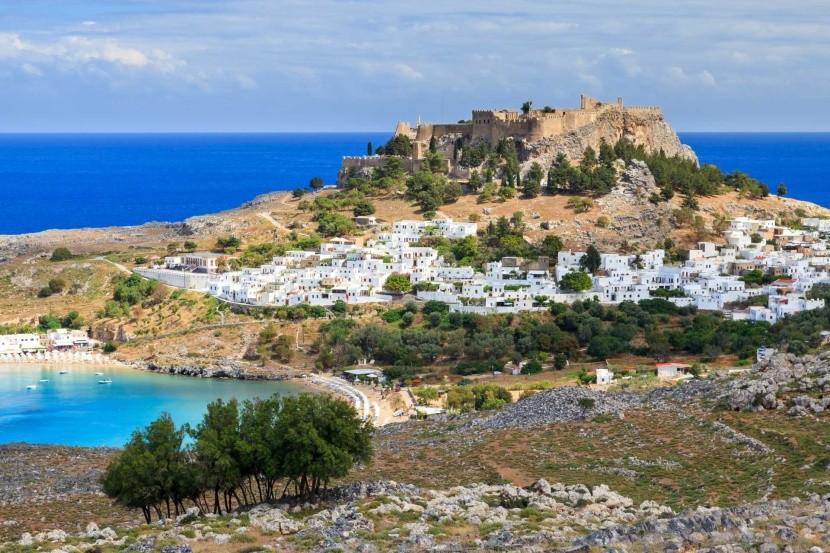 Görögország Rodosz Lindos falu