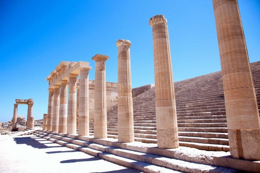 Görögország Rodosz Akropolisz Lindosz  Athéné