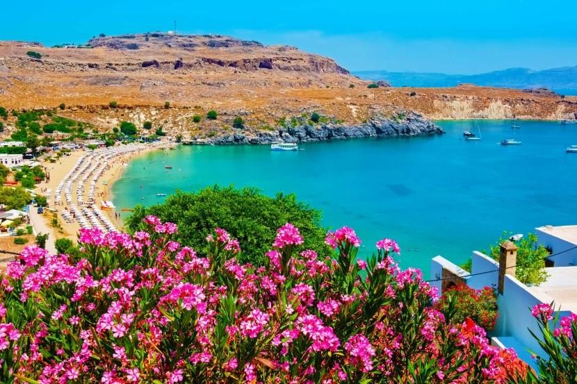 Görögország Rodosz Lindosz strand tengerpart