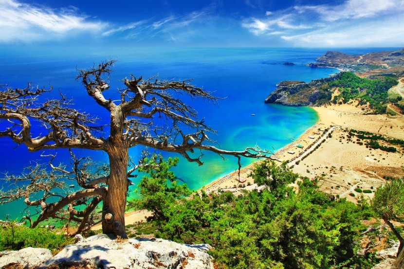 Görögország Rodosz Tsambika strand