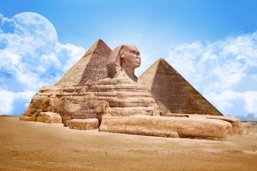 gízai piramis egyiptom nagy szfinx