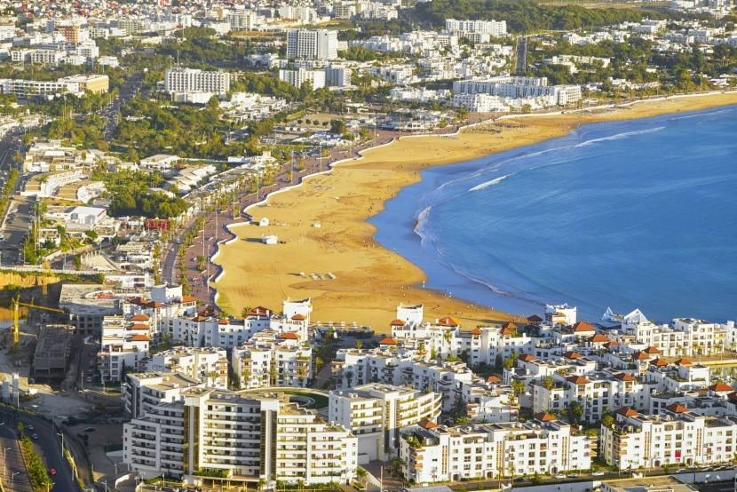 Agadir strand Marokkó tengerpart