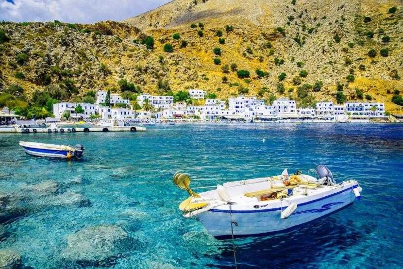 Loutro Kréta hajó tenger Görögország