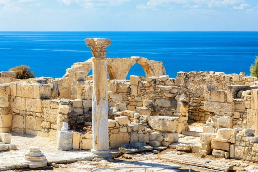 Kourion Ciprus tenger látványosság ókori rom