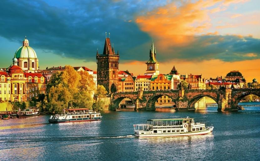 A száztornyú Prága