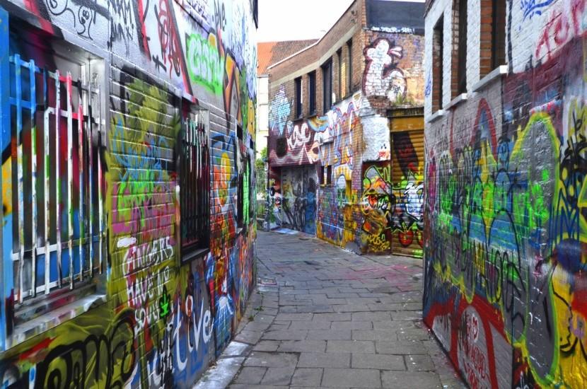 Graffiti-utca Gentben