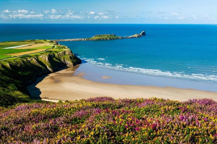 Rhossili Bay, Wales, Nagy-Britannia