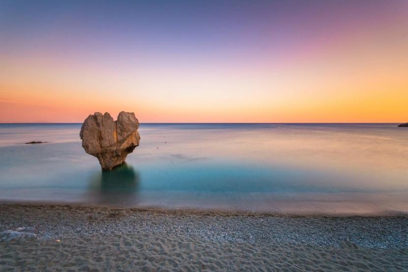 Szikla a Preveli strandon Krétán