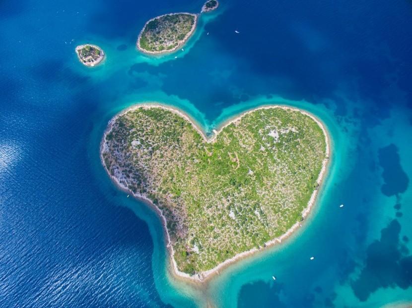 Galešnjak sziget Horvátországban