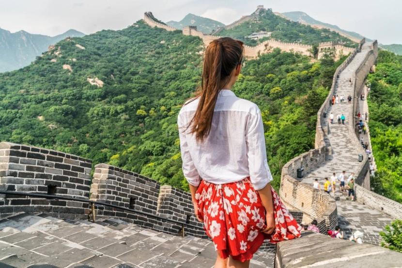 Turisták a Badaling szakasznál