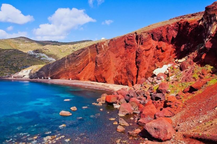 Santorini vörös strandja
