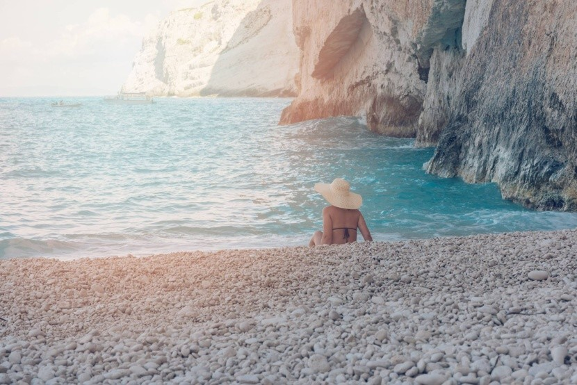 Navagio kavicsos strandja