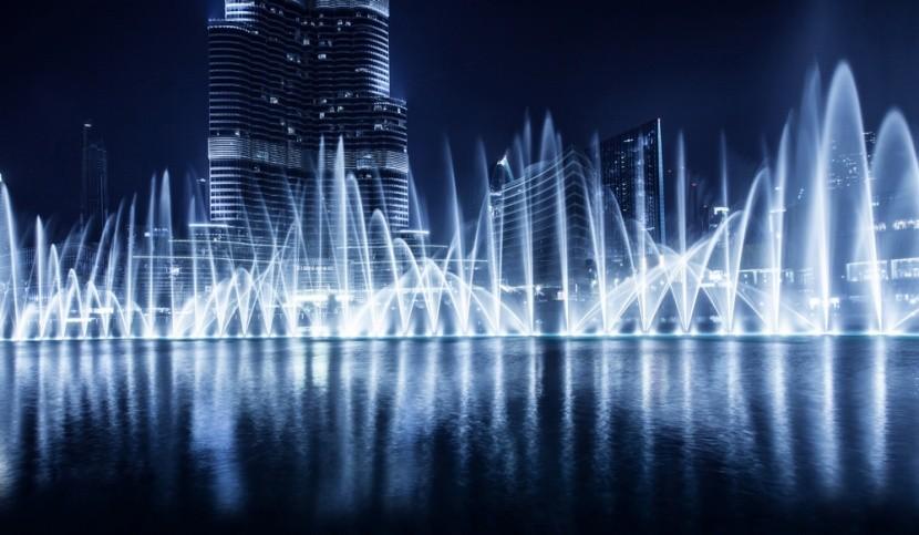 Táncoló szökőkút Dubajban