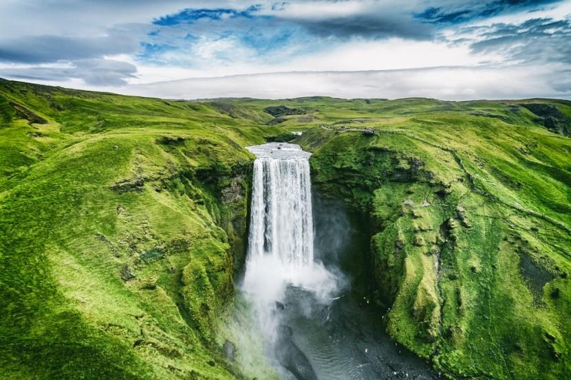 Skogafoss vízesés, Izland