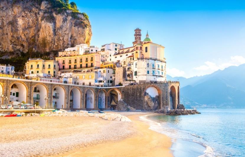 Atrani Beach, az olasz Kampániában