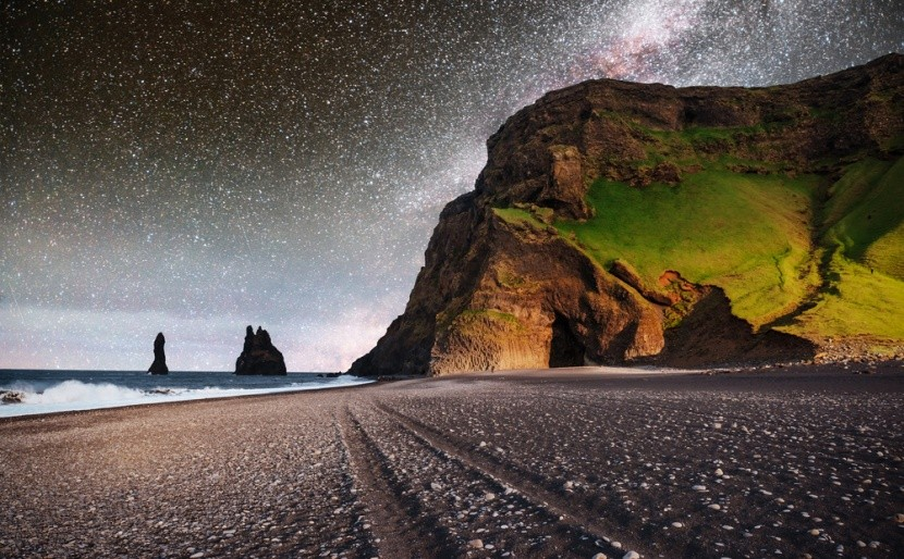 A feketehomokos Reynisfjara Beach, Izland