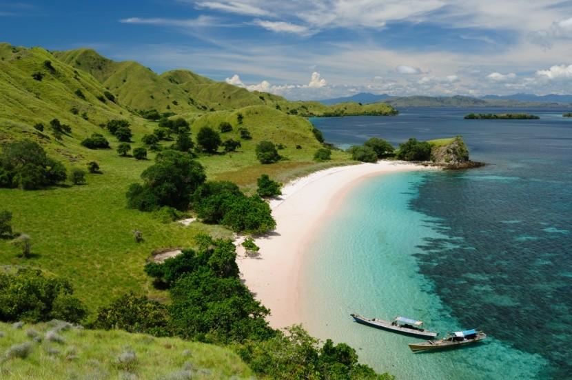 Rózsaszín part, Komodói Nemzeti Park, Indonéz