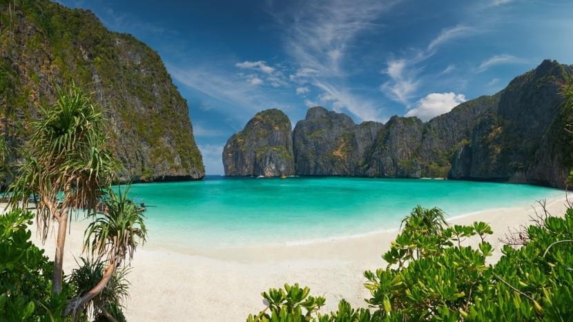 Ismert tengerpart Phi Phi szigetén, Thaiföld