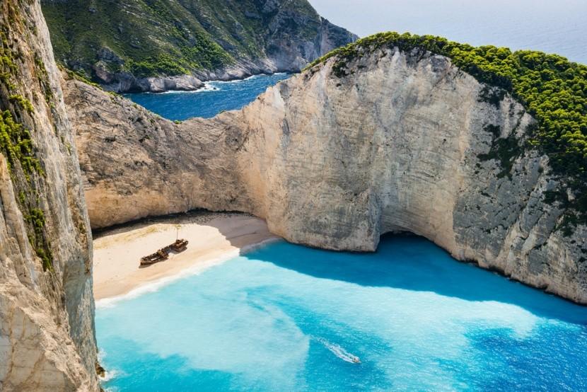 Navagio Beach, Zakynthos, Görögország