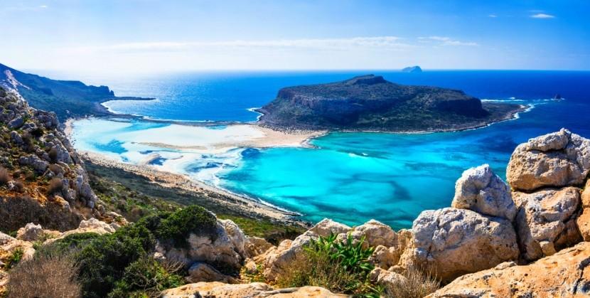 Balos-öböl, a görög Kréta szigetén