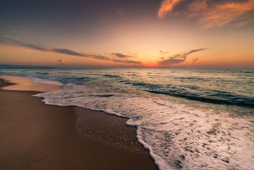 Napkelte Hammamet strandján