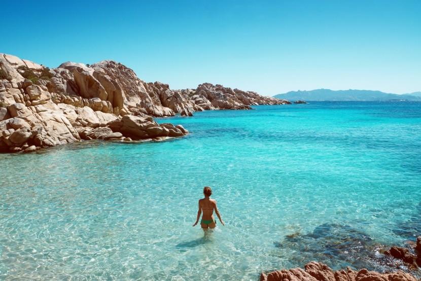 Szardínia strandjai kristálytiszta vízűek