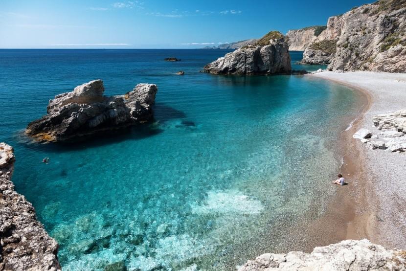 Kaladi tengerpart, a Kythira görög szigeten