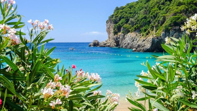 Korfu, Palaiokastritsa Beach