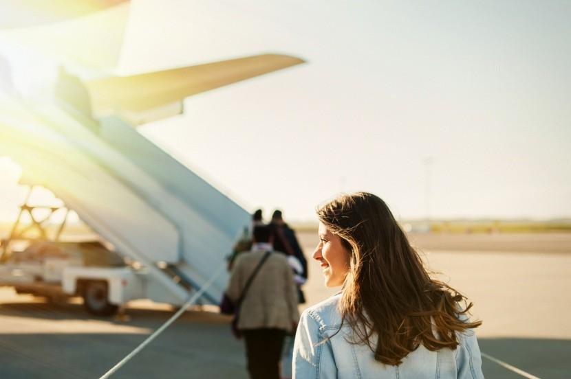 Beszállás a reptéren