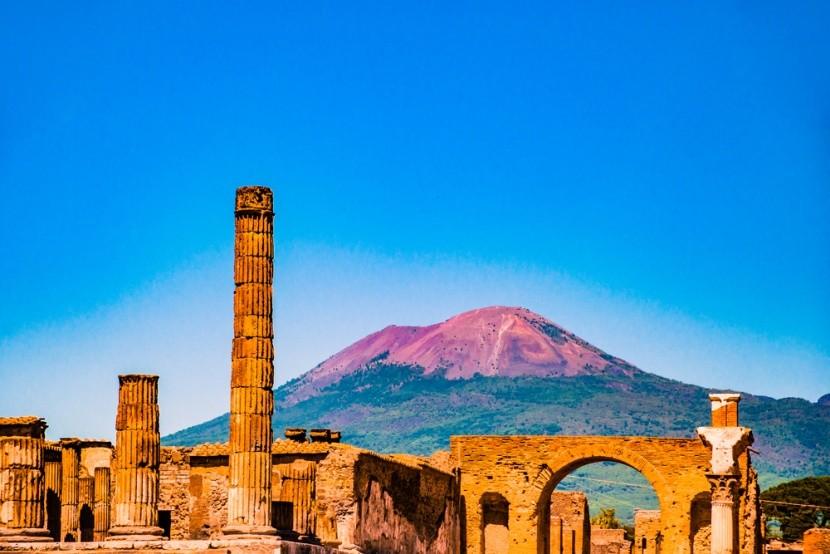 Pompei és a Vezúv Olaszországban