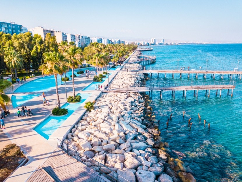 Ciprus, Limassol, Promenád